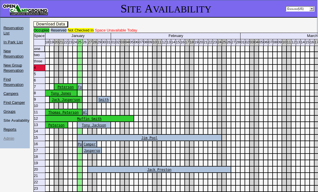 Site Availability screenshot